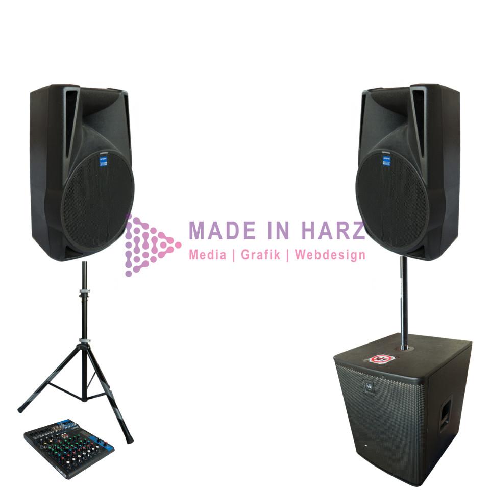 Verleih Veranstaltungstechnik Tontechnik Set db2 Halberstadt